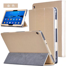 ocube DHL/EMS 3-Folder Folio Stand Silk Print PU Leather Case Cover For Huawei MediaPad M3 Lite 10 BAH-W09 BAH-AL00 10.1″Tablet