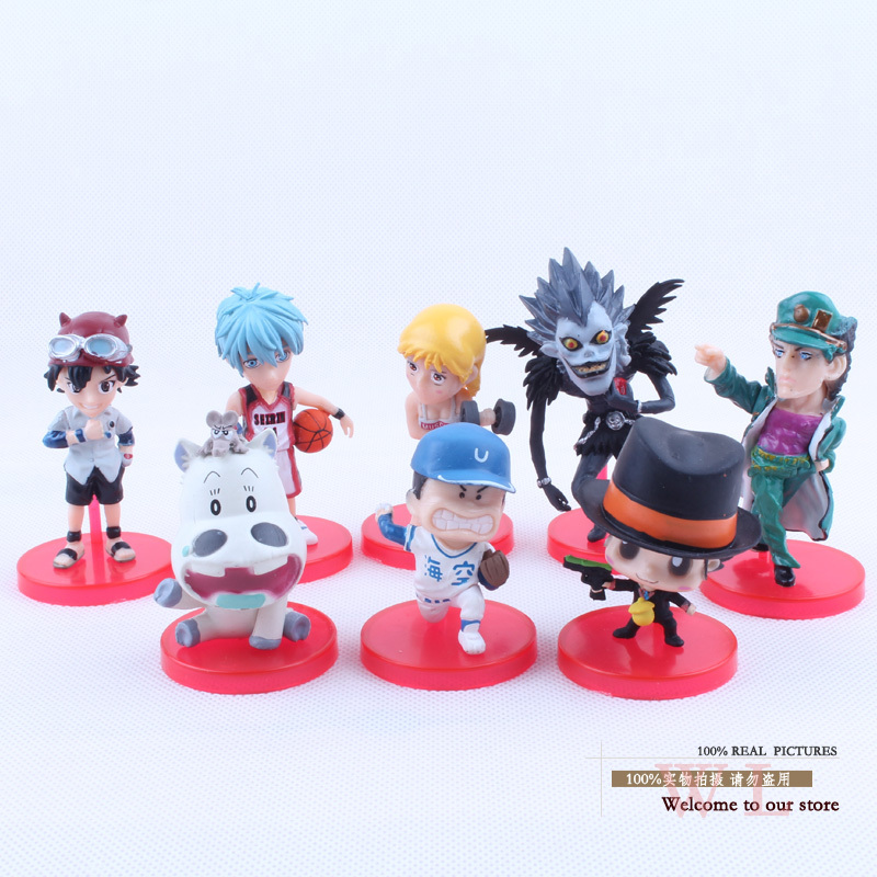 Anime Cartoon Kuroko's Basketball Death Note Hitman Reborn PVC Action Figure Toys Dolls 8pcs/set  OTFG101