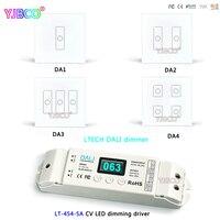 LTECH led Wall Mount Cảm Ứng Bảng Chuyển Đổi điều khiển; PLUS DA1 DA2 DA3 DA4 DALI Dimmer; LT-454-5A CV LED mờ driver cho led strip