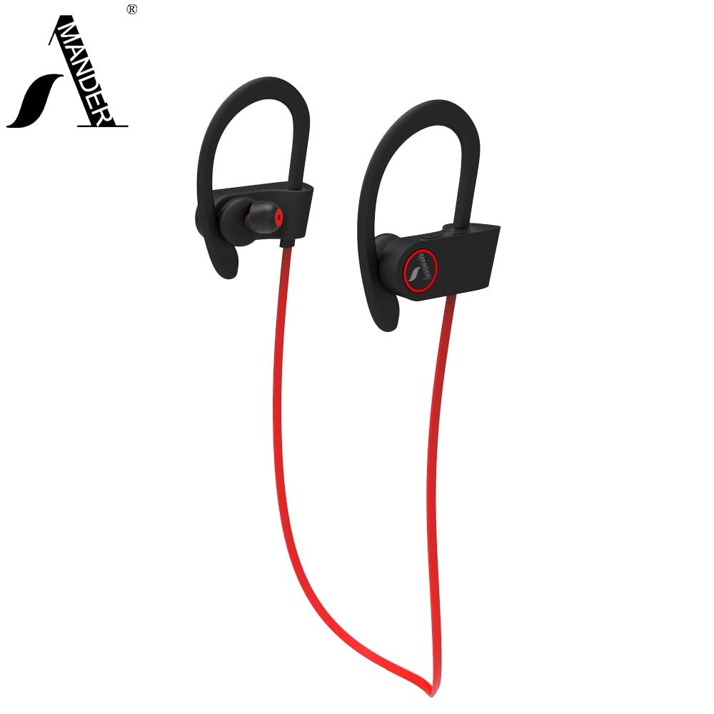 ФОТО AmericaMande X1 sports Sweatproof wireless bluetooth 4.1 headphones stereo earphones headset with Mic earbuds for iphone Xiaomi