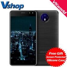 Оригинал VKworld F2 3 Г Мобильные Телефоны Android 6.0 2 ГБ RAM 16 ГБ ROM Quad Core Смартфон 8MP Камера Dual SIM 5.0 дюймов Сотовый телефон