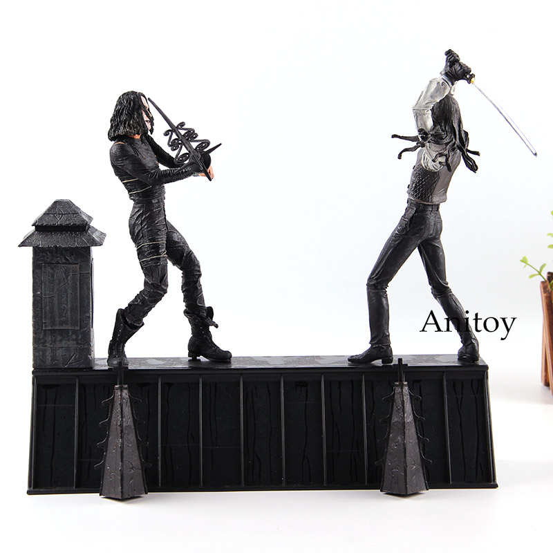 The Crow Rooftop Battle Eric Draven VERSUS Top Dollar Horor Dolls Action Figure NECA PVC Collection Model Toys horror movie toys the crow brandon lee eric draven vs top dollar neca action figure pvc collectible model toy