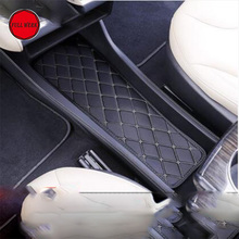 Car Center Console Dashboard Box Cushion Pad Mat Decorative Moudling for Tesla Model S 2014-2017 Car Styling Interior Accessory