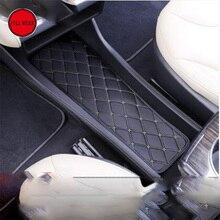 La Consola Central del coche del Tablero de instrumentos Caja de Cojín Estera del Cojín Decorativo Moudling para Tesla Model S 2014-2017 Car Styling Interior accesorio