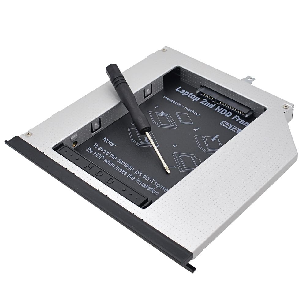 TISHRIC For Lenovo ThinkPad L430 L420 L412 Optibay Aluminum 2nd HDD Caddy 12.7mm SATA 3.0 2.5