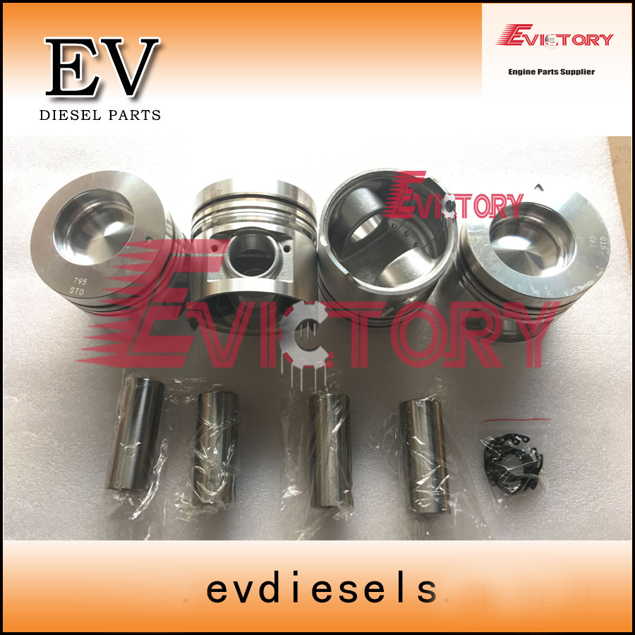 For hyundai R75-7 excavator loader S4S S4SDT S4S-DT Piston with pin and clip Direct Injection type ...
