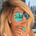 Califit señoras redondas de gran tamaño shades gafas de sol de las mujeres diseñador de la marca de la vendimia oculos mujer uv400 gafas de sol retro para mujeres