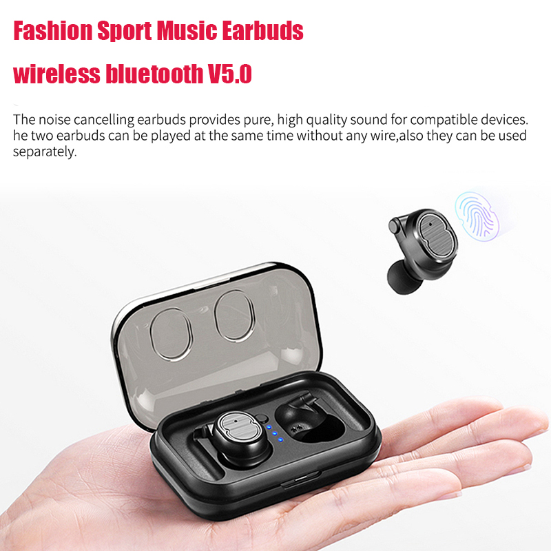 Mini Wireless Bluetooth Earphone BT5.0 TWS Earbuds Sports Stereo Music Headset With Mic Charging Box For iPhone X 8 7 Xiaomi цена