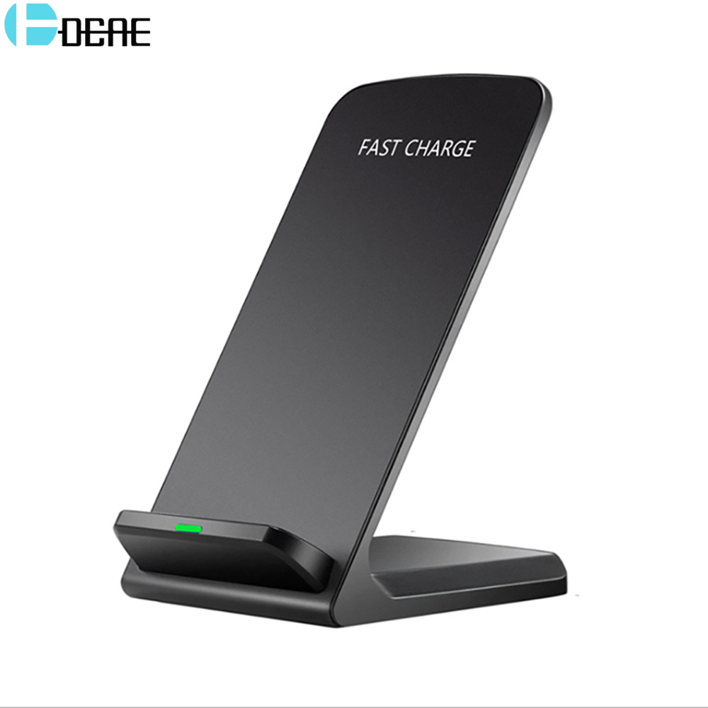 DCAE Qi cargador inalámbrico para iPhone XS Max XR 8X8 para Samsung S9 S8 S7 Xiaomi mezclar 2 S inalámbrica rápida Docking estación Dock