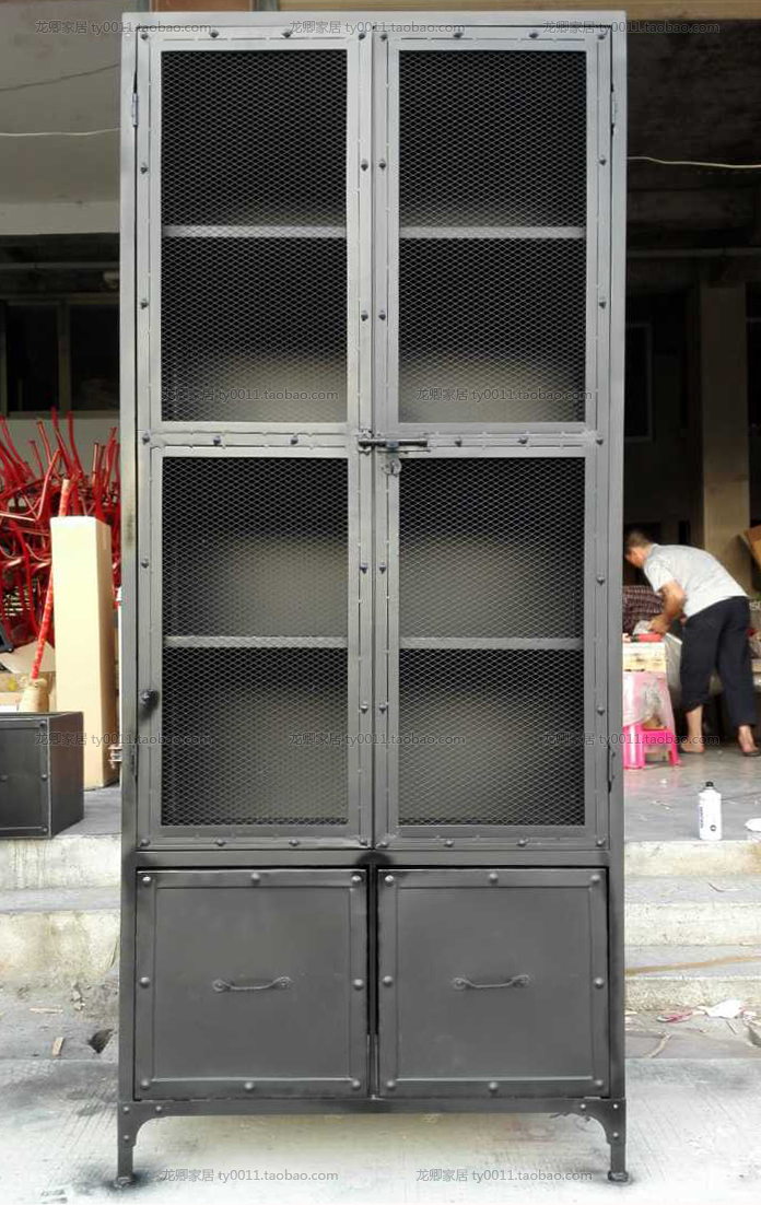 Online Shop American Country Style Wrought Iron Industrial Loft TV Cabinet  Bookcase Bookcase Lockers Do The Old Wine Racks | Aliexpress Mobile