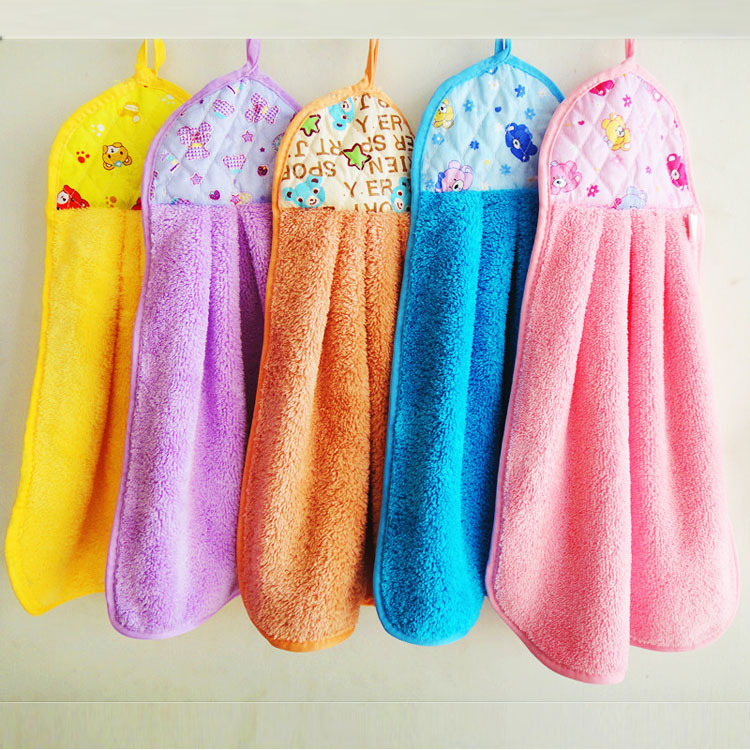 4pcs Quick Dry Nano Coral Velvet Hanging Hand Towel Kitchen Washing Strong  Absorption Microfiber Baby Drying Towels 35*47cm In Hand Towels From Home  ...