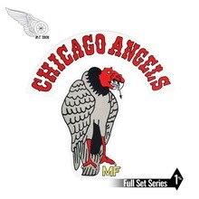 Chicago Angels eagle biker patches set iron on applique punk big patch for jacket
