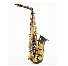 High Quality Black Nickel Gold Saxophone Alto Brass Instruments E Flat Saxophone Carved Pattern Eb Sax With Mouthpiece, Case