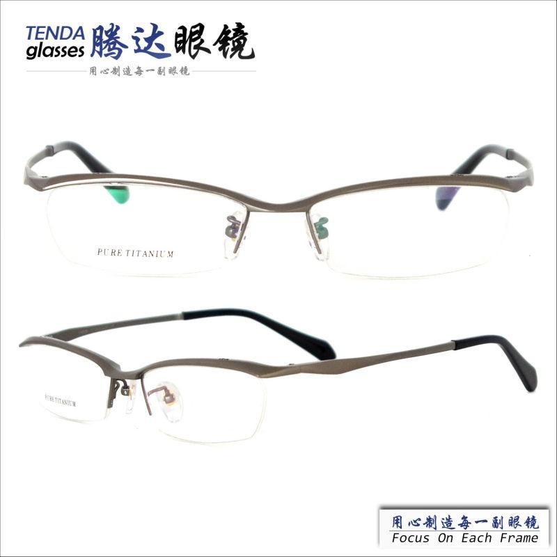Hombres Medio Borde de la Línea de la Frente Montura de gafas de ...