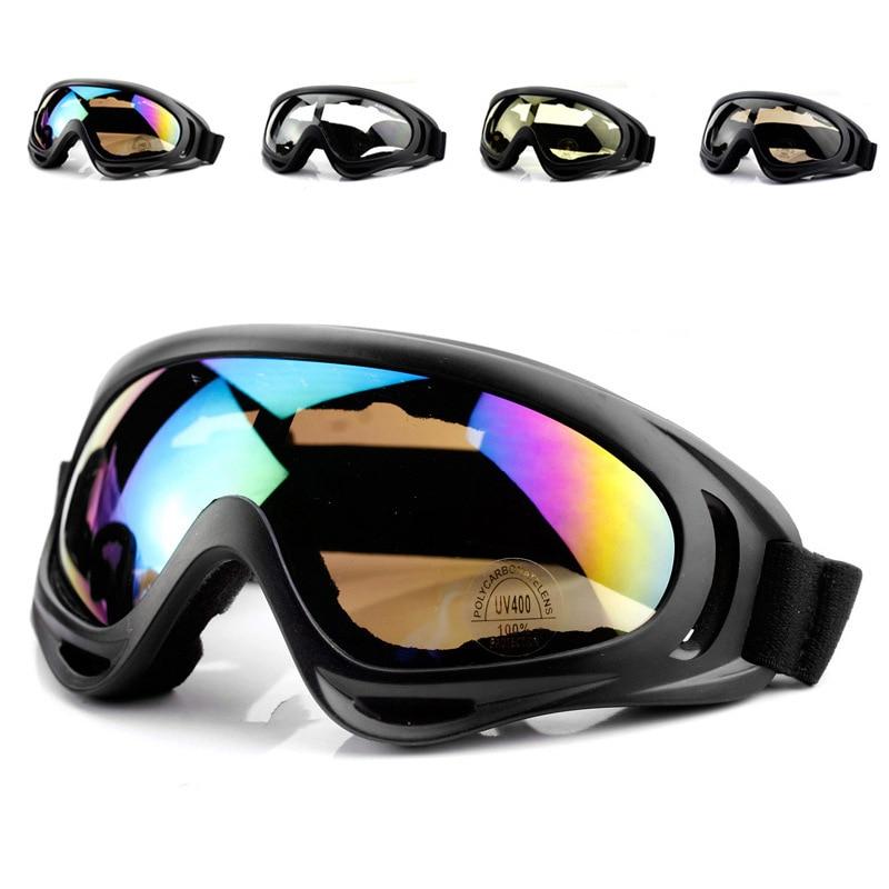 Зимние лыжные очки для снежных видов спорта, сноуборда, анти-туман, снегоход, ветрозащитные пылезащитные очки UV400, лыжные очки для катания на коньках, очки
