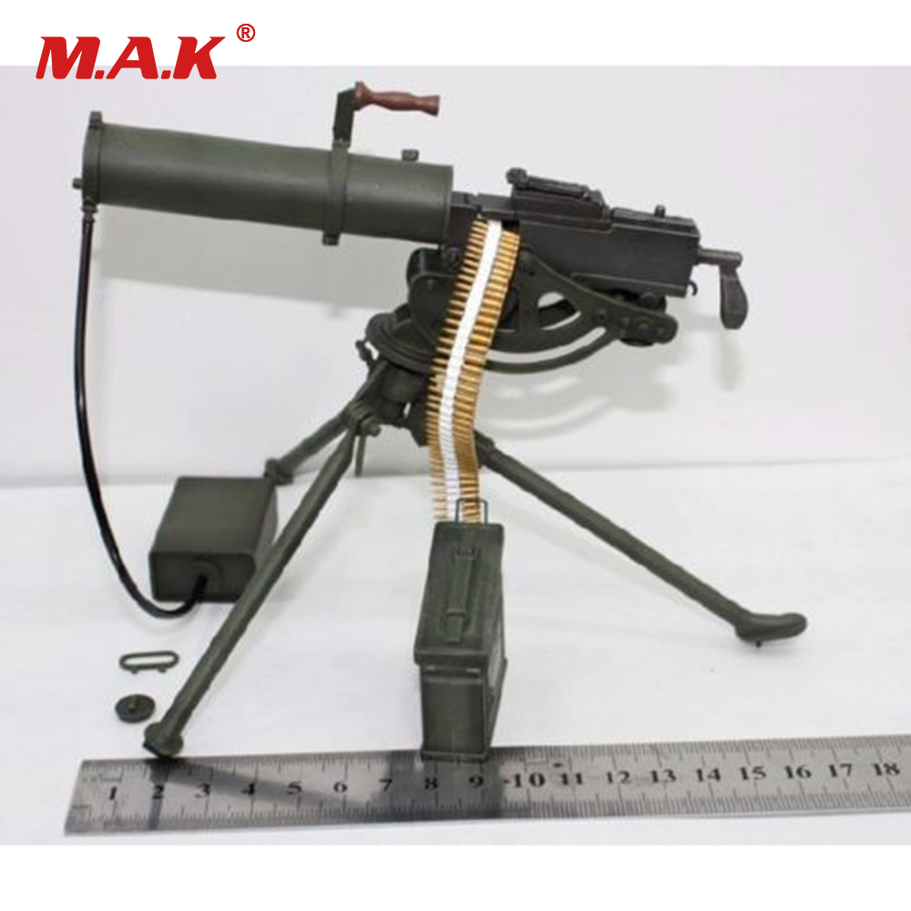 1/6 Scale Figure Weapon Model Weapon WWI Maschinengewehr MG08 Maxim Gun Toys 1:6 Soldier Weapon
