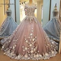LS00043 Robe De Soiree Sweetheart 3D flowers Long Prom Dress Dress 2018 Vestido De Festa Longo Evening Dress Party Gown