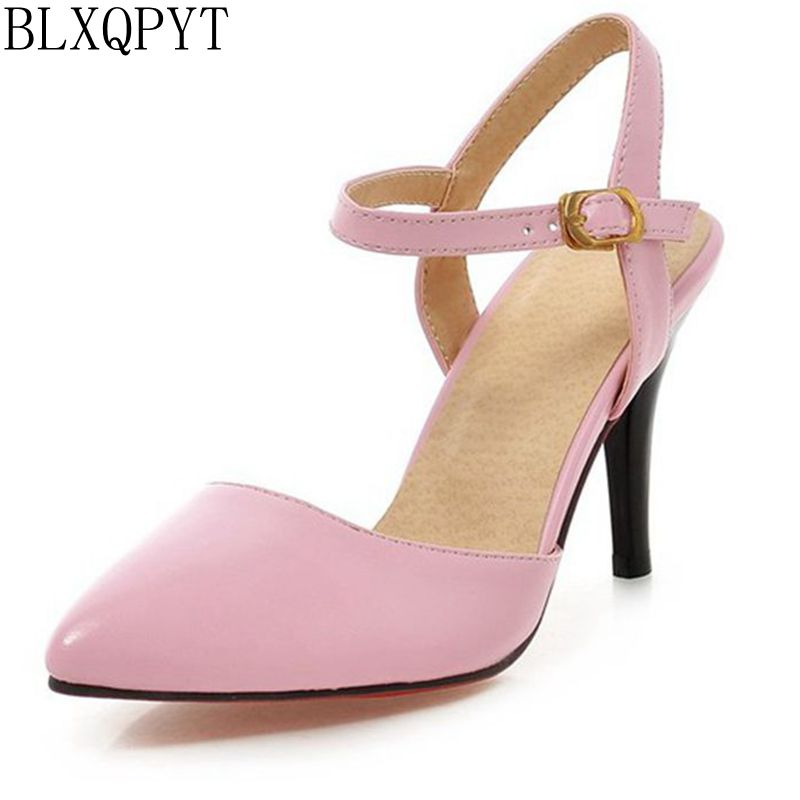 BLXQPYT 2017 Ladies Shoes Woman Mujer Women High Heels Chaussure Femme Pumps Sapato Feminino 1391 2017 new sale fashion big size 34 46 ladies shoes woman zapatos mujer chaussure femme pumps sapato feminino tacon valentine 1 9
