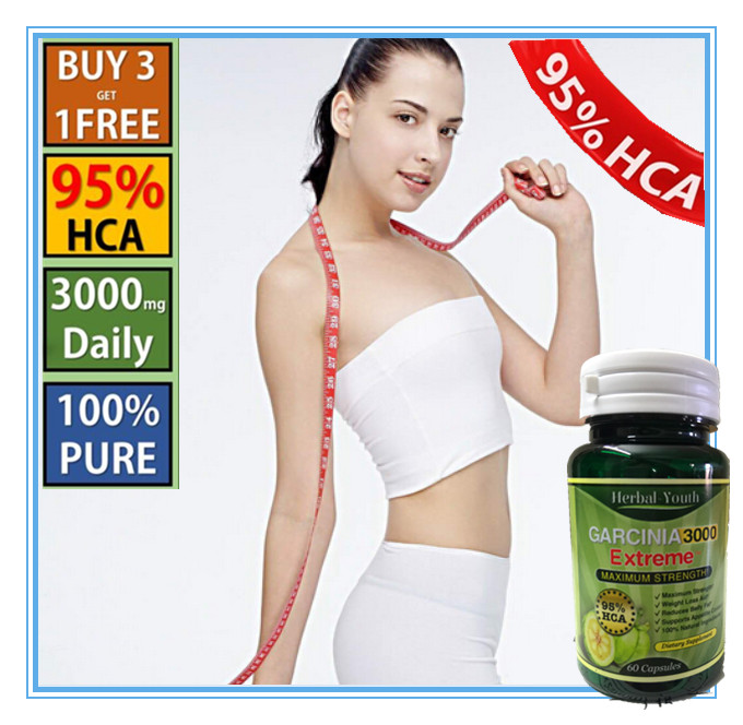 6 Bottle 2016 Hot sell full natural diet supplements  per bottle 95% HCA Pure Garcinia Cambogia Extract for body health sweetleaf steviatabs stevia extract natural sweetener 5000 tabs zero calories zero carbs eating food supplements diabetes sugar