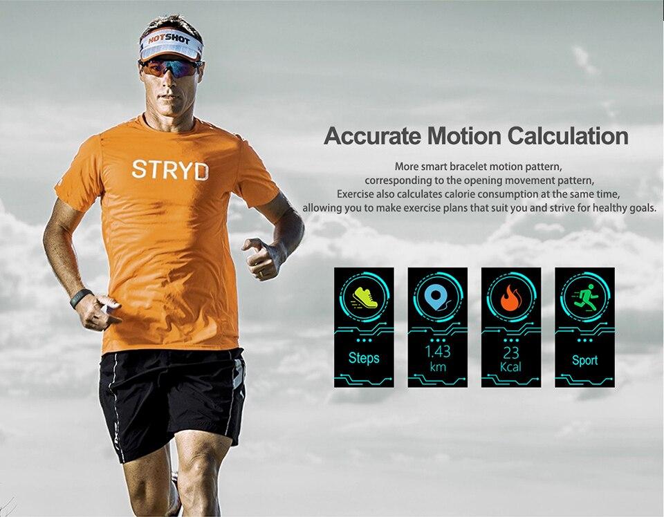 HTB1fFvLDrGYBuNjy0Foq6AiBFXaY TimeOwner Smart Bracelet Waterproof Heart Rate Monitor Smart Band Sport Passmeter Calories Mileage Multi Sport Fitness Tracker