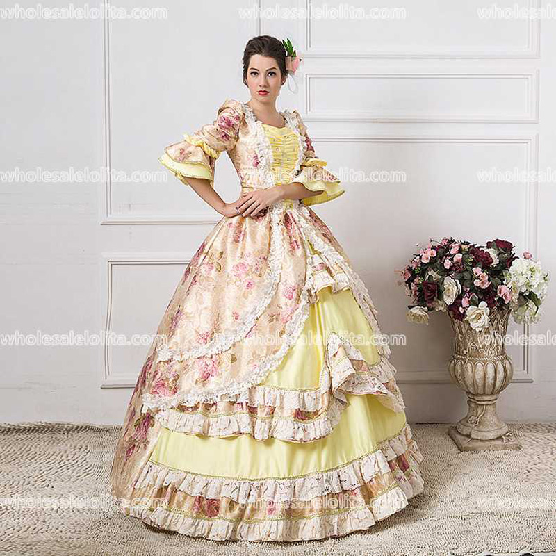 0c50c64a3f67e US $85.2 29% OFF|HOT!! Global FreeShipping 18th Century Marie Antoinette  Renaissance Period Rococo Belle Party Gowns Dress-in Dresses from Women's  ...