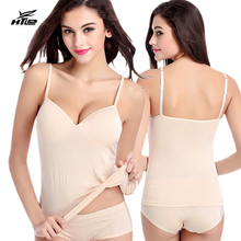 HTLD Seamless Wire Free Padded Fitness Tanks Tops Women Bralette Crop Top Ladies Vests Cropped feminino Camisole Brandy melville