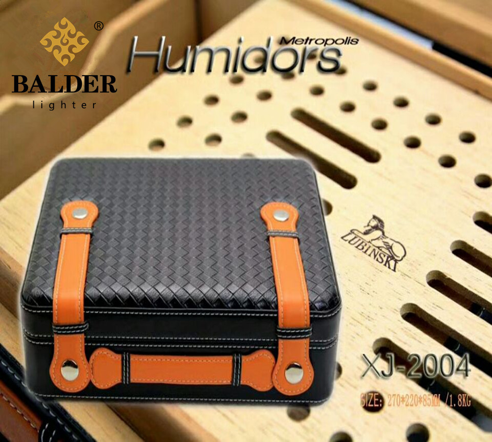 LUBINSKI Luxury Suitcase Handbag Model Cedar Wood Cigar Box Tools