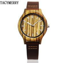 Hot Selling Zebra Wood Watch For Womens With Japan MIYOTA Movement Fashion Gifts Christmas