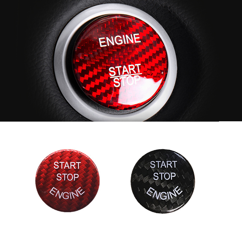 For <font><b>BMW</b></font> E60 <font><b>E90</b></font> E91 E92 E93 E70 F10 F25 F26 F15 F16 Carbon Fiber <font><b>Engine</b></font> Start Stop Button <font><b>Cover</b></font> Sticker Trim image
