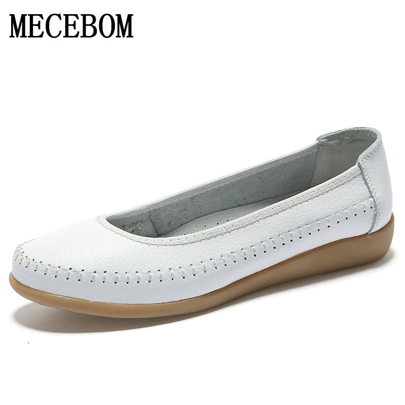 2018 Shoes Woman Leather Women Shoes Flats Colors Loafers Slip On Women's Flat Shoes Moccasins Plus Size ballet 1519W цены онлайн