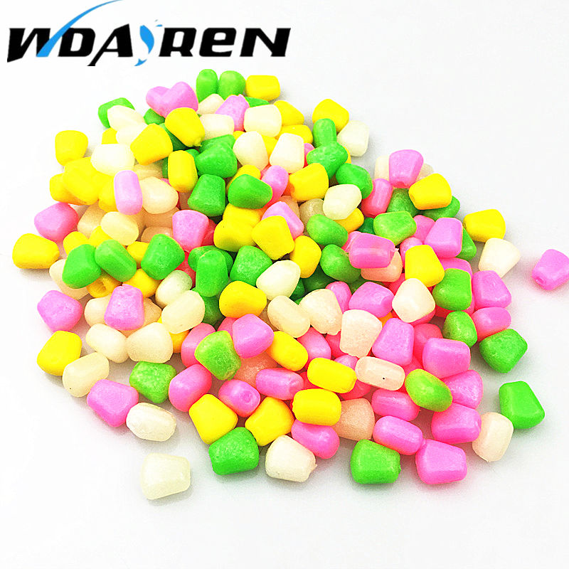High quality 50Pcs/Lot Soft Baits corn carp Fishing Lures With the smell of Artificial bait Corn grain Floating baits FA-331 natural selection