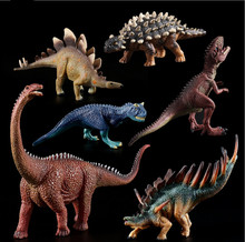 цена на 10 Style Plastic Dinosaur Toy Model Action Anime Figures  of Jurassic park world Dinosaurs Tyrannosaurus Toys For Children Gift.
