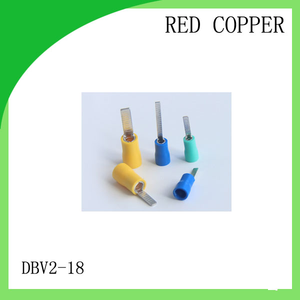good red copper 1000 PCS DBV2-18 Cold Pressed Terminal Connector Suitable for 16AWG - 14AWG Chip pre-insulated terminals 5pcs lot pure copper broken groove memory mos radiator fin raspberry pi chip notebook radiator 14 14 4 0mm copper heatsink