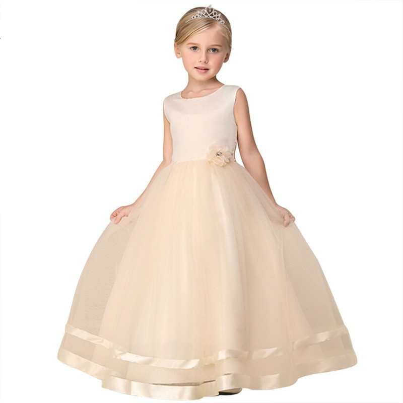 Princess Flower Girl Dress Summer 2019 Birthday Party Wedding Dresses For Girls Of The Children Teenage Suit Prom Designs