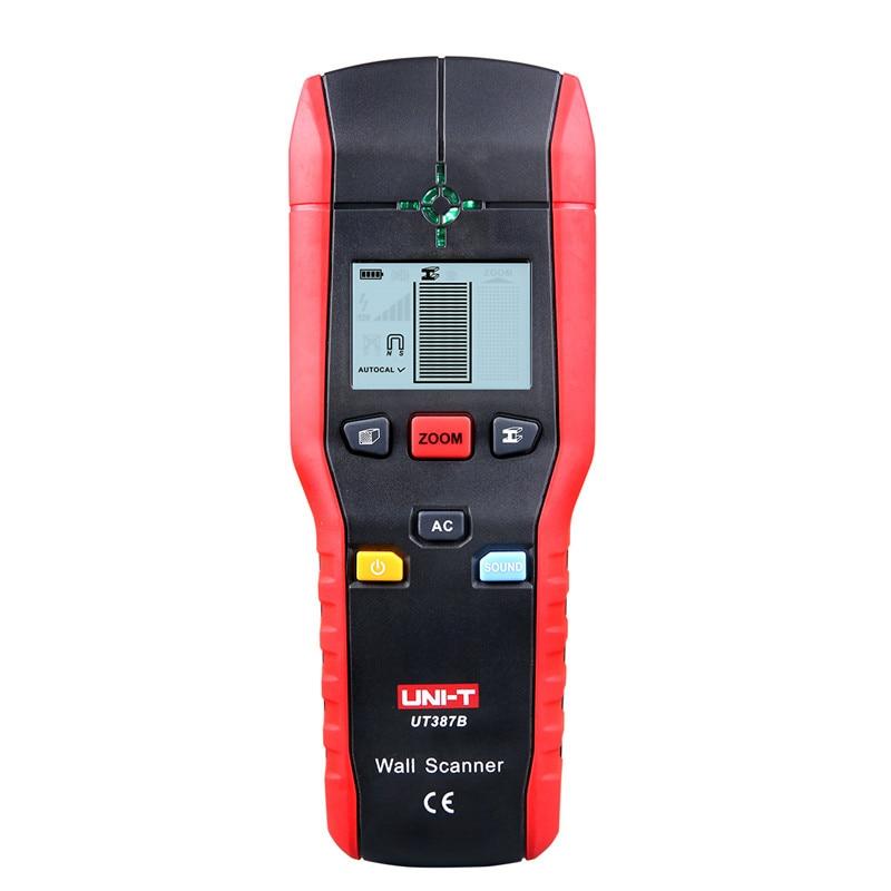En gros UNI-T détecteur de métaux UT387B professionnel détecteur de mur en métal bois AC câble Finder Scanner métal Diagnostic-outil