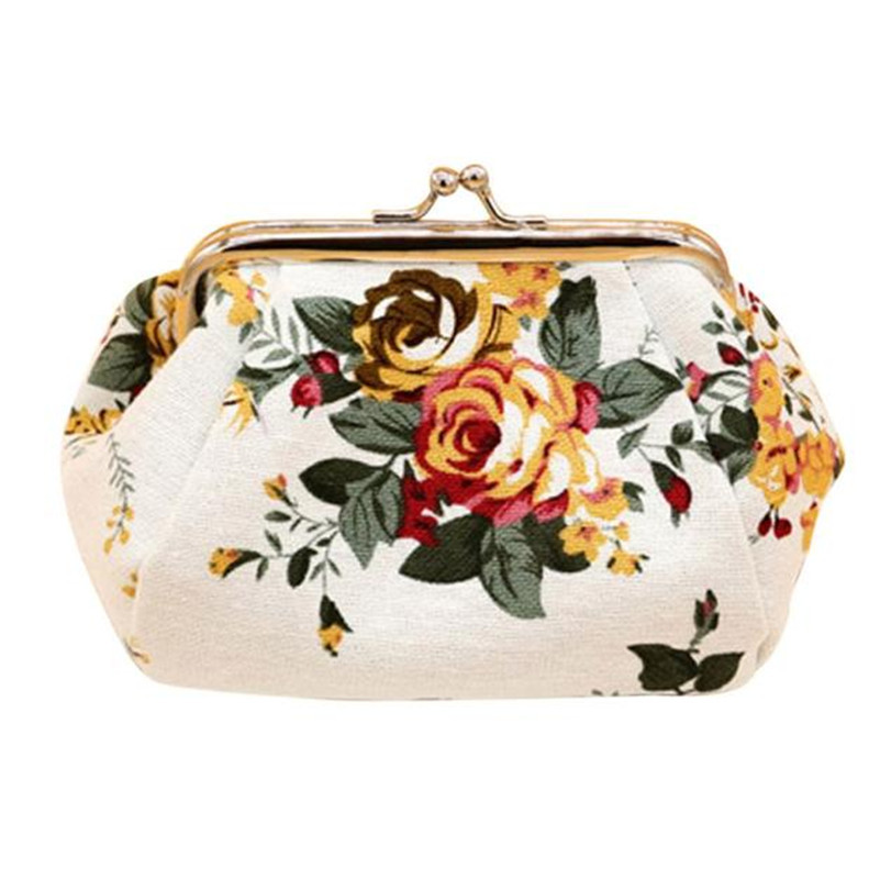 Hasp Coin Purse New Women Retro Small Wallet Lady Vintage Flower Clutch Bag Good Floral Gift Bags Carteira Feminina