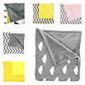 New Baby Newborn Toddler Charcoal Grey & White Minky Blanket Baby Swaddle Warp Baby Canopies Sleeping Swaddling Warp