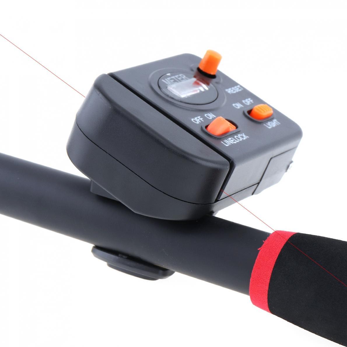 Fishing Line Counter Clip On Rod Meter Gauge Depth Finder Digital Jigging 99.9m