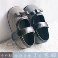 Hot sale Card toddler shoes princess shoes fashion plaid small leather soft outsole baby shoes