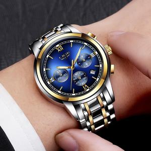 Image 5 - Montre Homme Watch Men Luxury Brand LIGE Chronograph Men Sport Watch Waterproof Full Steel Quartz Men Watches Relogio Masculino