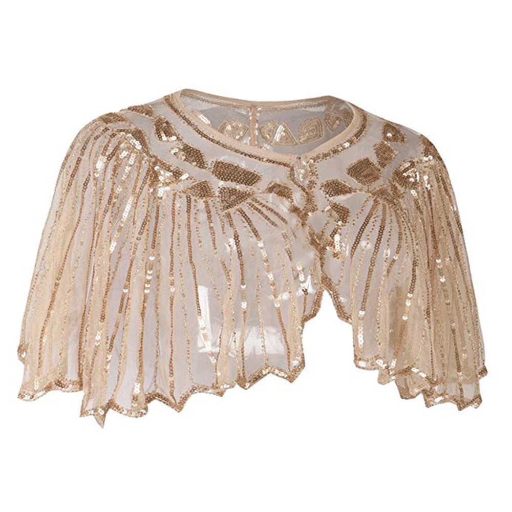 Новый стиль шифоновая Свадебная накидка шаль болеро для женщин короткий рукав