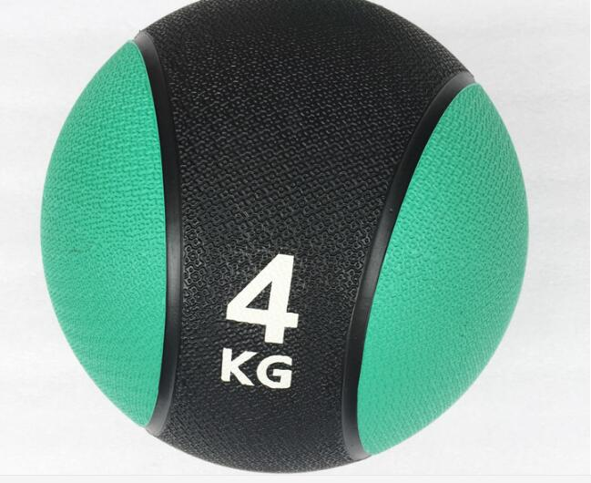 4KG Durable Rubber Medicine Ball Solid Gravity Fitness Ball Tai Chi Health Ball Muscle Training Equipment arm muscle fitness equipment electronic hand grips gyro power ball flash wrist ball