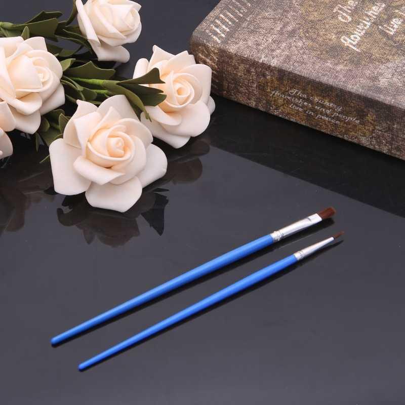 2 unids/set pelo de nailon pincel de pintura acrílica acuarela pintura al óleo dibujo