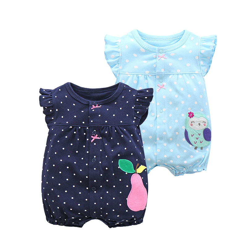2019 Summer Baby Girl Clothes One-pieces   Rompers   Baby Clothing , Cotton Short Jumpsuits Infant Girls Clothes Roupas Menina