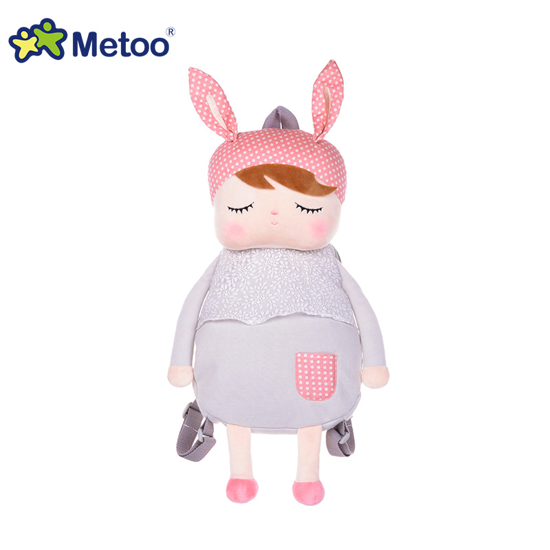 Animals Cartoon Bags Kids Doll Plush Backpack Toy Children Shoulder Bag for Kindergarten Angela Rabbit Girl Metoo Backpack kawai syrup lint rabbit bag lolita silk bowknot soft plush toy model doll single shoulder span portable pearl chain package