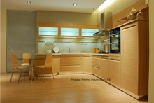 PVC/vinyl kitchen cabinet(LH-PV038)