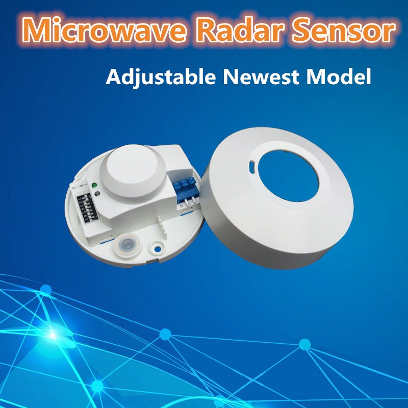 New arrival excellent quality 360 degree microwave smart motion sensor light radar switch ceiling recessed wall CM112  цена