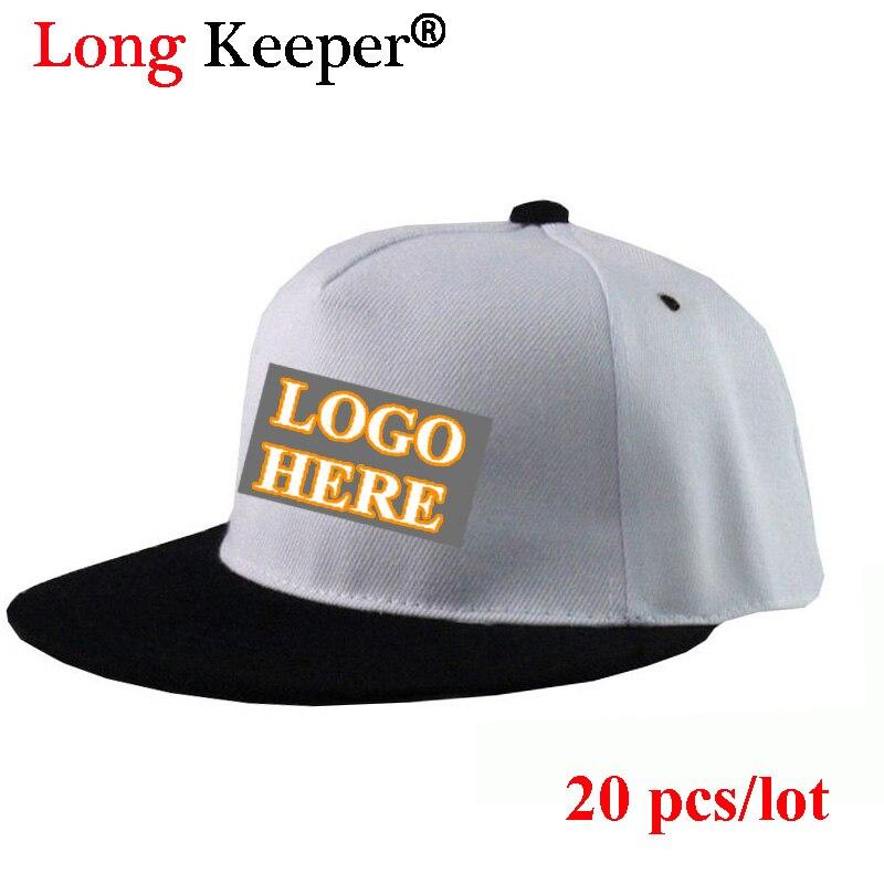 7a4d503b9 US $94.79 30% OFF|Long Keeper LOGO Custom Snapback Caps Baseball High  Quality Embroidery Print Hats Gift For Children Kids Biys Girls  20PCS/Lot-in ...