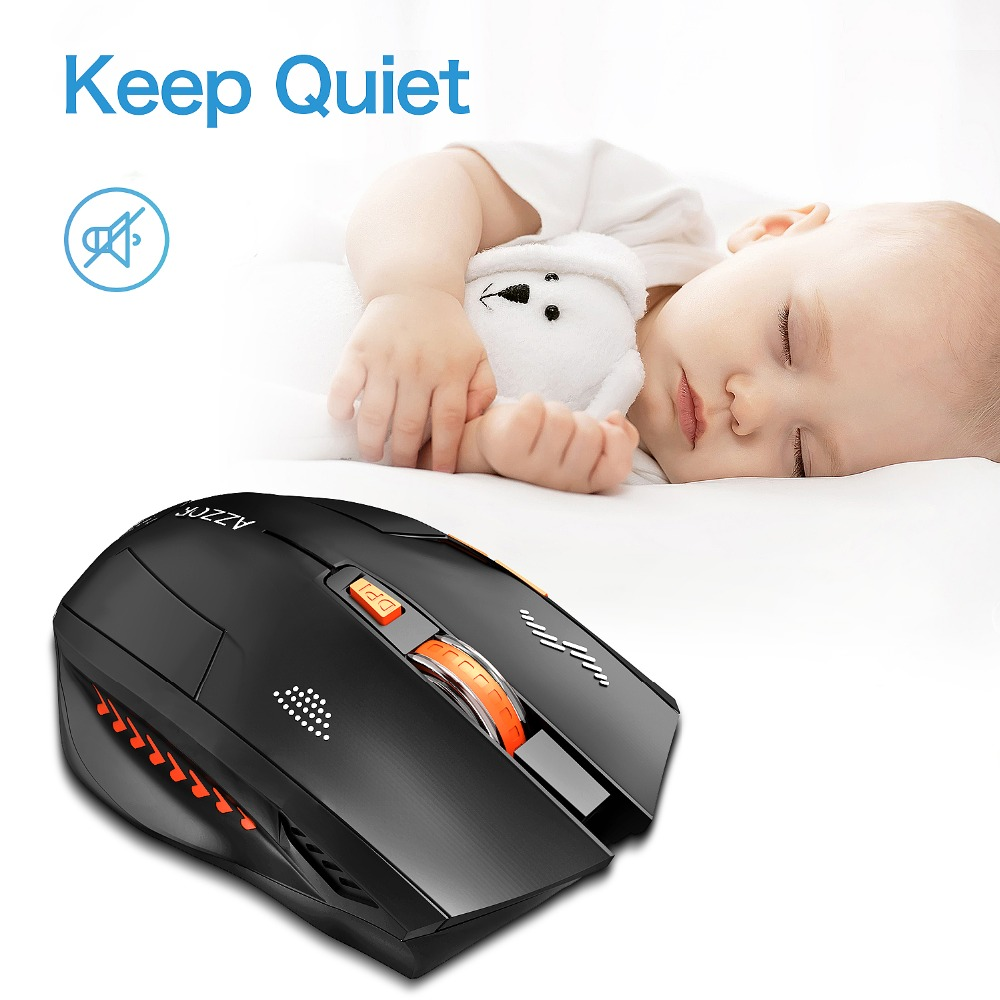 Image 2 - Wireless Mouse Optical Mouse Gaming Silent usb rechargeable Mice  2400dpi Built in Battery For PC Laptop Computer Noiseless-in Mice from  Computer