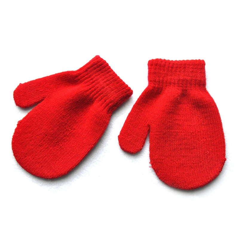 Winter Toddler Kids Gloves Baby Boy Girl Cute Soft Knitting Mittens Warm Gloves!